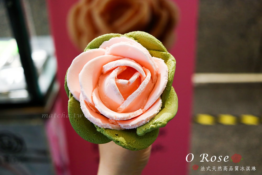 台北冰品|| 大安-O Rose 法式天然高品質冰淇淋。玫瑰花冰淇淋(板橋快閃店)